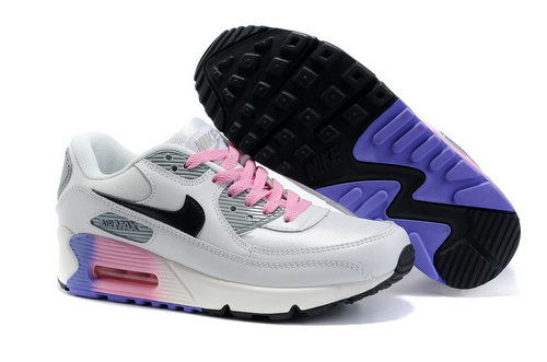 Nike Air Max 90 Womens Shoes Wholesale White Gray Pink Black Japan