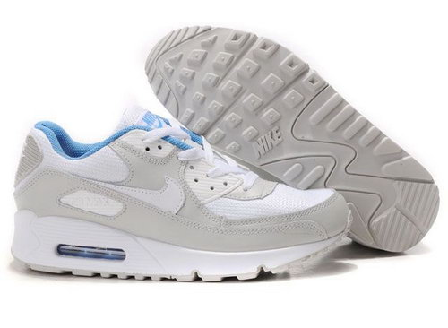 Nike Air Max 90 Womens Shoes Wholesale White Gray Usa