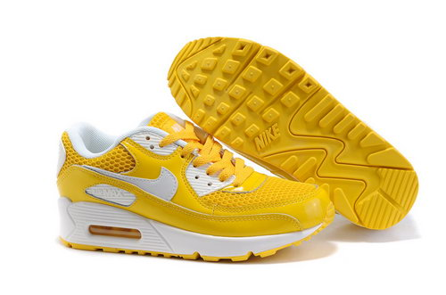 Nike Air Max 90 Womens Shoes Wholesale Yellow White Netherlands