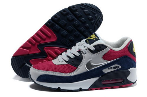 Nike Air Max 90 Womens Shoes Wine Red Gray Cheap