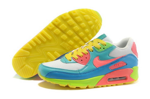 Nike Air Max 90 Womens Shoes Yellow Green Discount Code
