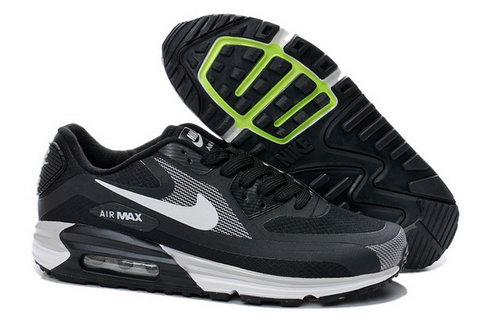 Nike Air Max Lunar 90 Waterproof Wr Mens Shoes Black White Silver Hot On Sale