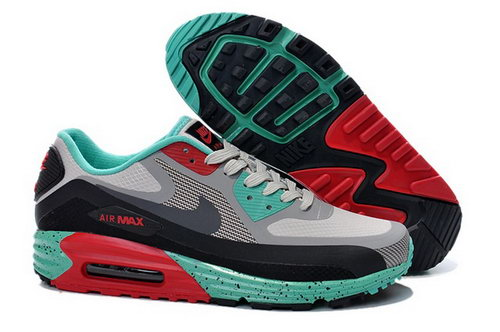 Nike Air Max Lunar 90 Waterproof Wr Mens Shoes Gray Black Red Green Hot Greece