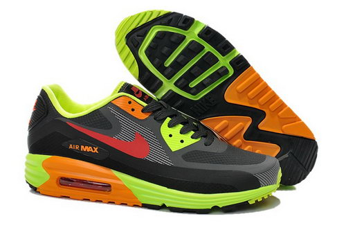 Nike Air Max Lunar 90 Waterproof Wr Mens Shoes Gray Orange Green Red Hot Reduced