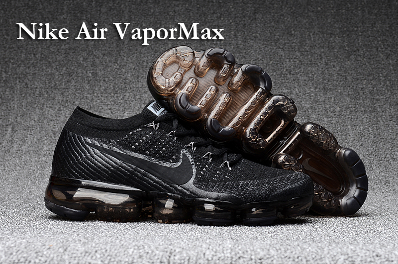 Nike Air VaporMax 2018 Women's Running Shoes Black Grey