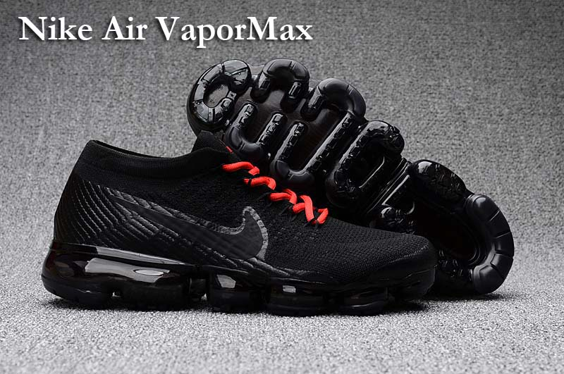 Nike Air VaporMax 2018 Women's Running Shoes Black Red