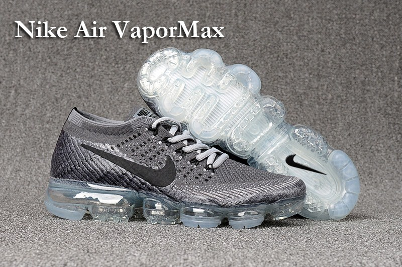 Nike Air VaporMax 2018 Women's Running Shoes Grey Black