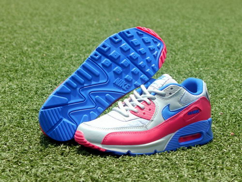 Nike Air Max 90 Womens Shoes New Special Colored Silver Blue Pink Poland