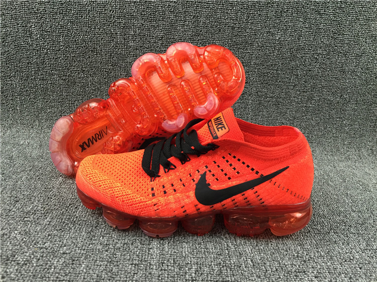 Nike Flyknit Air VaporMax 2018 Men's Running Shoes Red Black