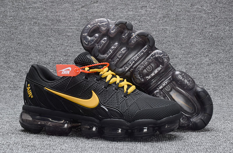 Nike Air VaporMax KPU 2018 Men's Black Golden Onsale