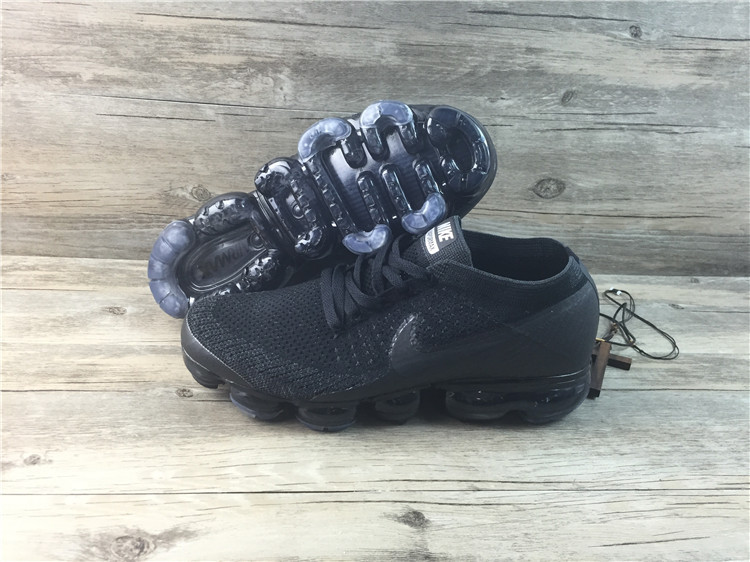 Nike flyknit Air VaporMax 2018 Women's Running Shoes All Black