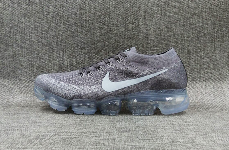 Nike flyknit Air VaporMax 2018 Men's Running Shoes Grey