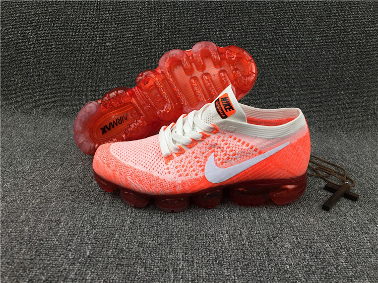 Nike flyknit Air VaporMax 2018 Men's Running Shoes Orange White