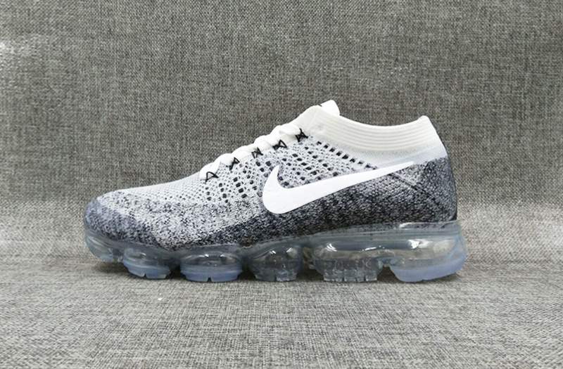 Nike flyknit Air VaporMax 2018 Men's White Grey Black