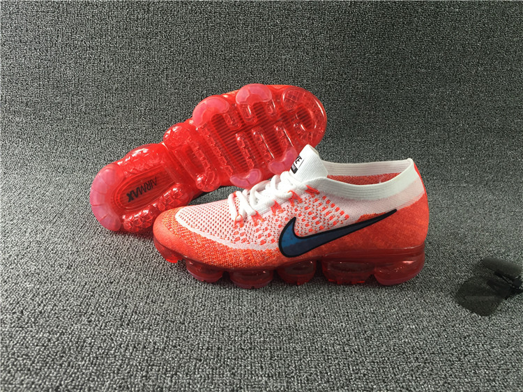 Nike flyknit Air VaporMax 2018 Men's Running Shoes White Red