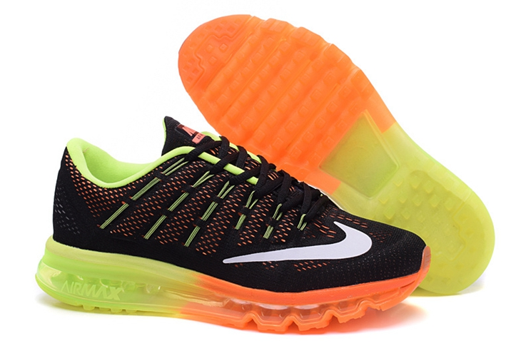 Nike Air Max 2016 806771 002 Men Trainers Black Neno Green Team Orange