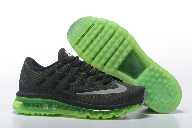 Nike Air Max 2016 806771 013 Mens Shoes Black Sail Voltage Green Medium Olive