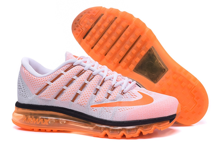 Nike Air Max 2016 806771 106 White Black Orange Red Trainers Mens