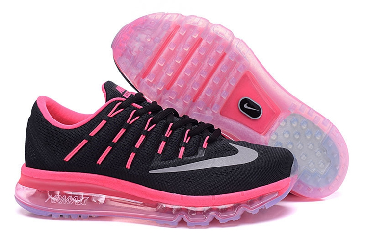Nike Air Max 2016 806772 016 Black Rosy Red Womens Trainers