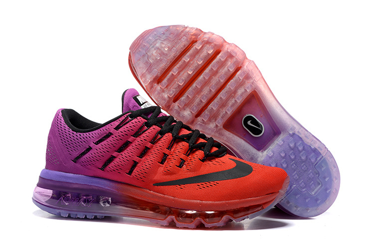 detailed pictures a9ad1 35d30 Nike Air Max 2016 807237 019 Red Purple Black For Womens Trainers