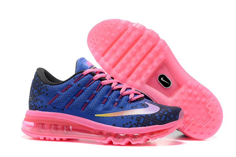 Nike Air Max 2016 820332 500 Women's Deep Night Black Blue Fire Pink Running Shoe