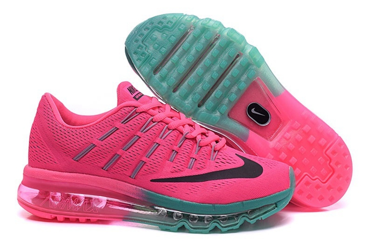 Nike Air Max 2016 Lake blue Pink Black Shoes For Women 806771 115