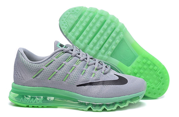 Nike Air Max 2016 Men's Trainers Light Grey Black Green 806771 007
