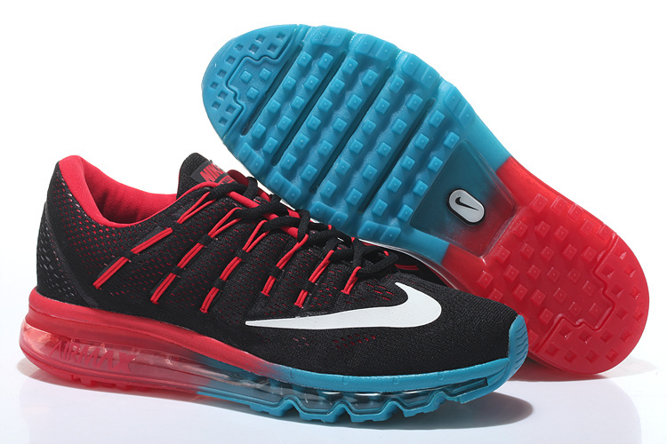 Nike Air Max 2016 Mens Running Shoes Black Bright Crimson Photo Blue 806771 006
