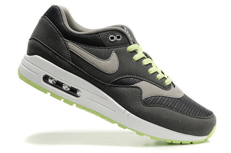 Outlet Men's Nike Air Max 1 Shoes Army Green Sale Clearance