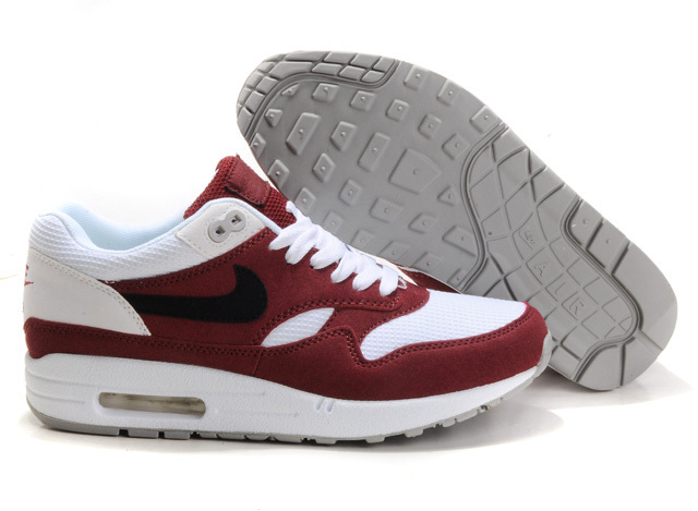 Cheap Outlet Men's Nike Air Max 1 Shoes White Wine Sale Online