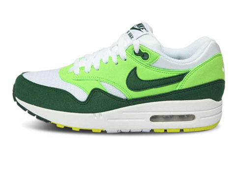 Retail Price Men's Nike Air Max 1 Shoes Green Light Green White Sale Cheap