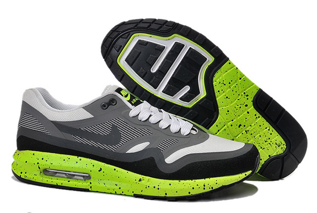 Buy Online Men's Nike Air Max 1 Shoes Gray Green Cheap Sale