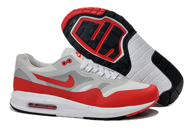 Best Price Men's Nike Air Max 1 Shoes Gray Red Online Retail