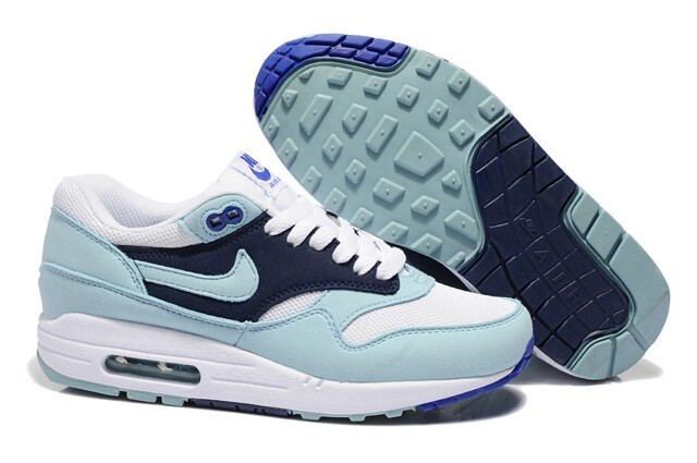 Cheap Outlet Women's Nike Air Max 1 Shoes Blue Navy Sale Online