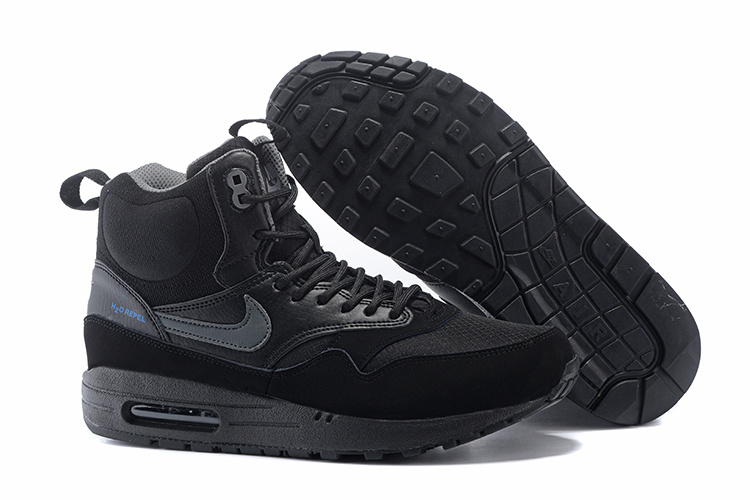 Outlet Clearance Women's Nike Air Max 1 Mid Sneakerboot LB QS Boots Black 685267-001 Cheap Shop