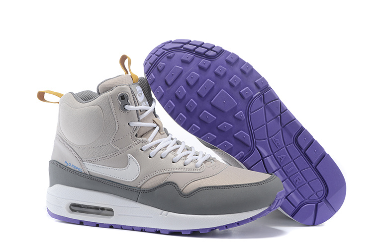 Cheap Retail Women's Nike Air Max 1 Mid Sneakerboot LB QS Boots Light Grey/Grey/White 685267-002 For Sale Online
