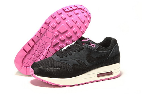 Restock Sale Women's Nike Air Max 1 Running Shoes Black/Pink Online Discount