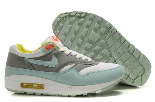 Cheap Outlet Women's Nike Air Max 1 Running Shoes Julep/White/Matte Silver 319986-331 Sale Online