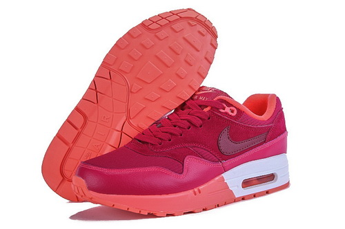 Best Price Women's Nike Air Max 1 Running Shoes Fuchsia/Orange 319986-605 Online Retail