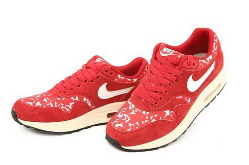Cheap Retail Women's Nike Air Max 1 Print Running Shoes Sport Red/Sail 528898-600 For Sale Online