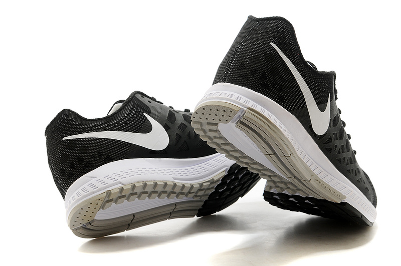 Men's Nike Air Zoom Pegasus 31 Running Shoes Black/White 654486-010