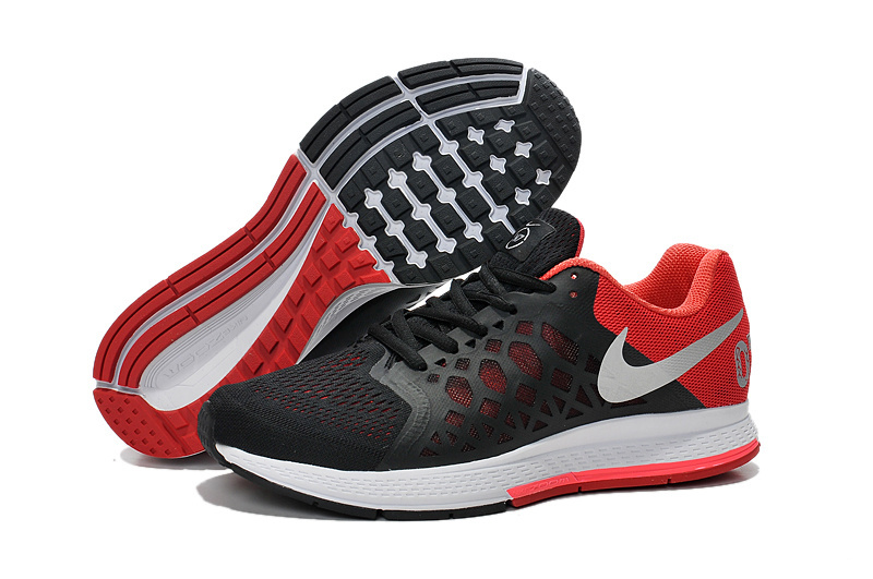 Men's Nike Air Zoom Pegasus 31 Running Shoes Black/Red/Silver 652925-060