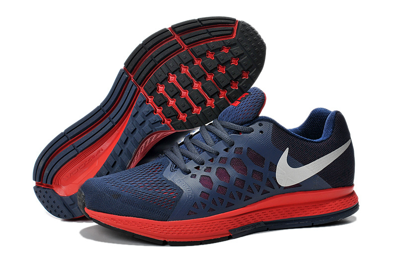 Men's Nike Air Zoom Pegasus 31 Running Shoes Dark Blue/Crimson/White 654486-460
