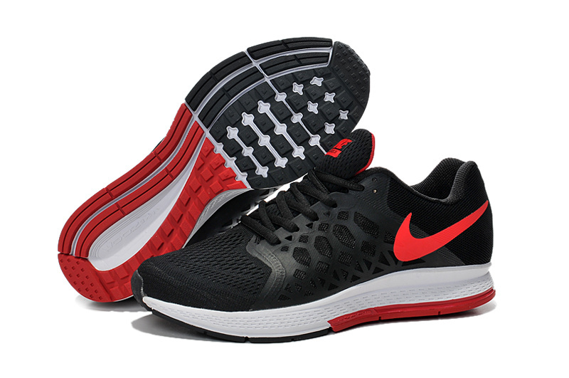 Men's Nike Air Zoom Pegasus 31 Running Shoes Black/Red/White 652925-006