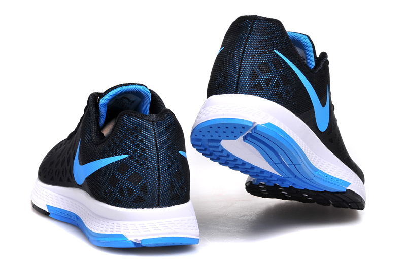 Men's Nike Air Zoom Pegasus 31 Running Shoes Black/Sky Blue/White 692925-004