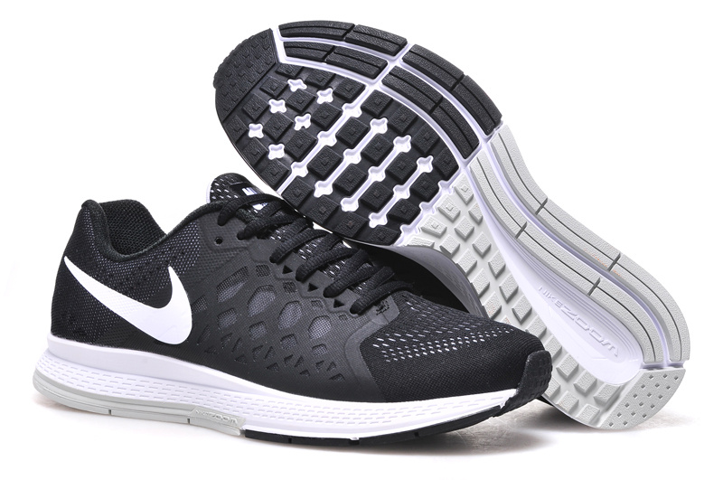 Men's Nike Air Zoom Pegasus 31 Running Shoes Black/White 652925-010