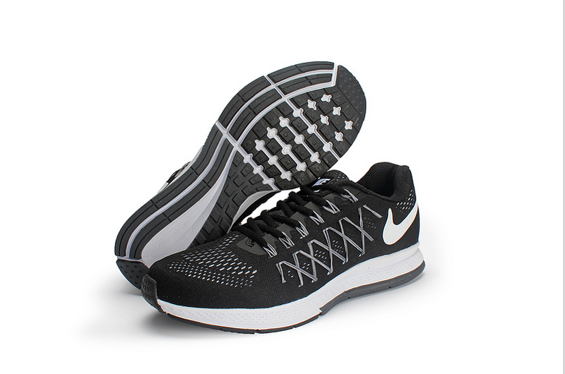 Men's Nike Air Zoom Pegasus 32 Running Shoes Black/Dark Grey/Pure Platinum/White 749340-001