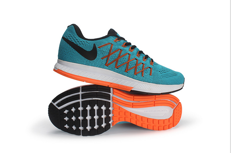 Men's Nike Air Zoom Pegasus 32 Running Shoes Blue Lagoon/Bright Citrus/Total Orange/Black 749340-400