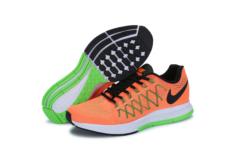 Men's Nike Air Zoom Pegasus 32 Running Shoes Orange/Green/Black 749340-803