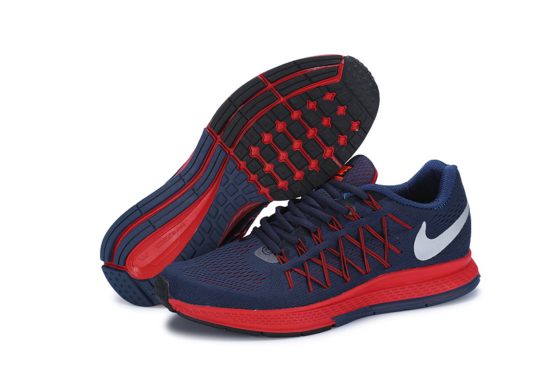 Men's Nike Air Zoom Pegasus 32 Running Shoes Navy Blue/Crimson/White